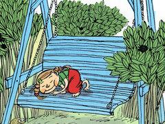 heinähattu vilttitossu ja ärhäkkä koululainen
